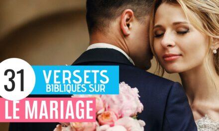 31 Versets Bibliques sur le Mariage